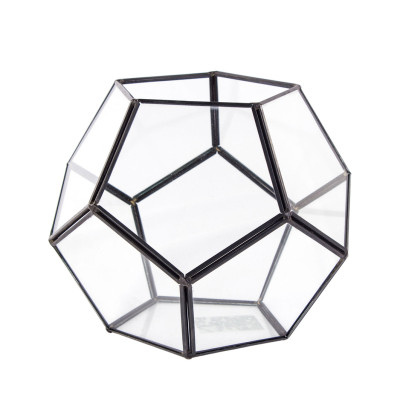 Diğer - Geometrik Cam Vitray ve Teraryum Vazo 18x15cm