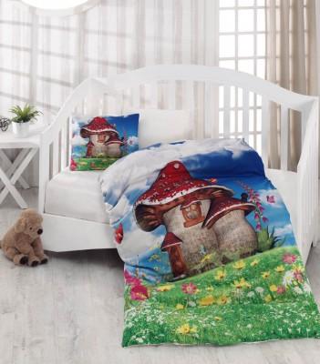 Diğer - Gökyüzü Elegant 3d Dijital Mantar Evli Bebek Uyku Seti