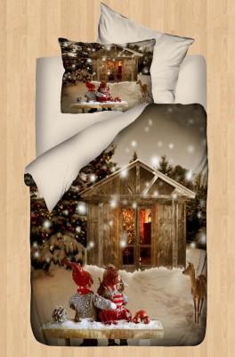 Diğer - Gökyüzü Elegant 3d Kış Manzaralı Bebek Uyku Seti