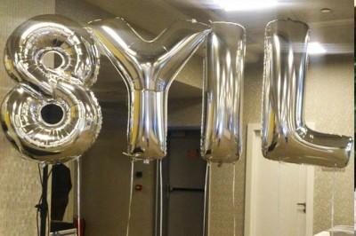 Gümüş Renkli Harf Folyo Balonlar - Thumbnail