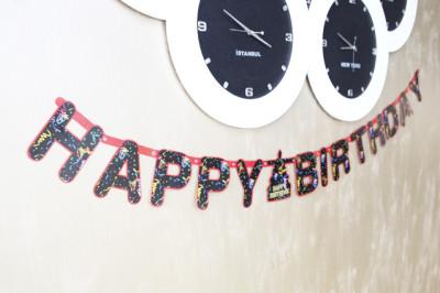 Diğer - Happy Birthday Yazılı Oynar Yazı Doğum Günü Süsü