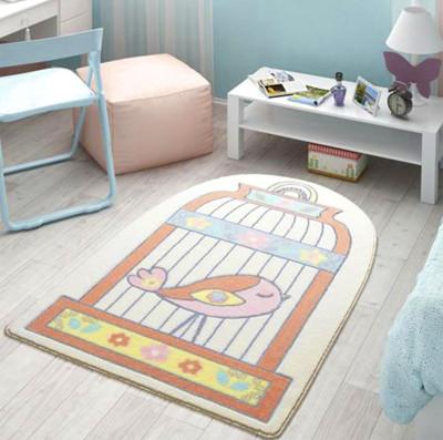 Confetti - Happy Cage Kafeste Kuş Çocuk ve Bebek Odası Halısı 100x150cm