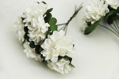 Diğer - Kağıt Çiçek Bebek ve Nikah Hediyelik Şeker Süsü Beyaz