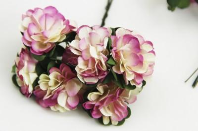 Diğer - Kağıt Çiçek Bebek ve Nikah Hediyelik Şeker Süsü Lila