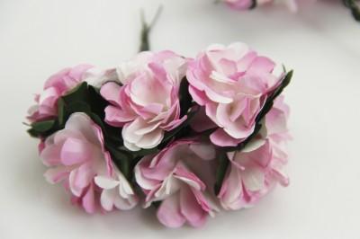 Diğer - Kağıt Çiçek Bebek ve Nikah Hediyelik Şeker Süsü Pembe