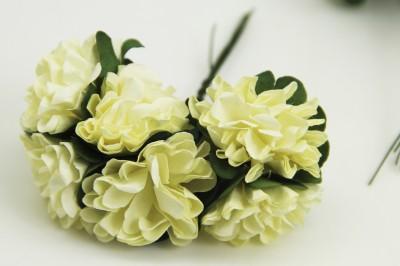 Diğer - Kağıt Çiçek Bebek ve Nikah Hediyelik Şeker Süsü Sarı