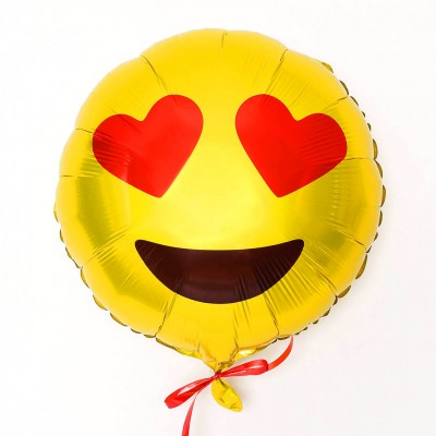 Diğer - Kalp Göz Emoji Folyo Balon 40cm