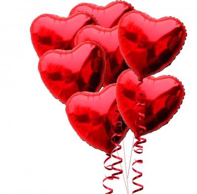 Diğer - Kalp Şeklinde Folyo Balon 40cm Kırmızı