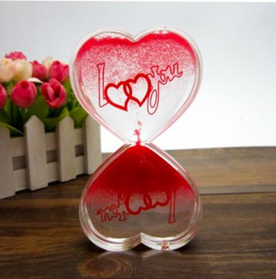 Diğer - Kalp Tasarımlı Jel Kum Saati