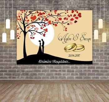 Kişiye Özel Tasarım Yapışkanlı Söz ve Nişan Töreni Karşılama Afişi 50x70cm