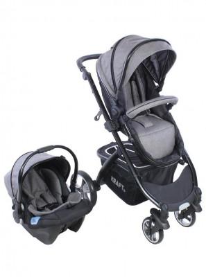 Kraft - Kraft Fit Travel Sistem Bebek Arabası Gri