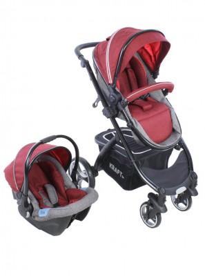 Kraft - Kraft Fit Travel Sistem Bebek Arabası Kırmızı