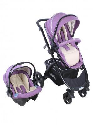 Kraft - Kraft Fit Travel Sistem Bebek Arabası Mor