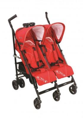 Kraft - Kraft Nitro İkiz Bebek Arabası Kırmızı
