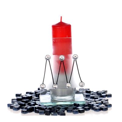Diğer - Kristal Süslemeli Cam Tealight Mumluk