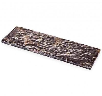 Külsan - Külsan Thermoset Mermer Tasarımlı Sunum Panosu 53cm Kahverengi