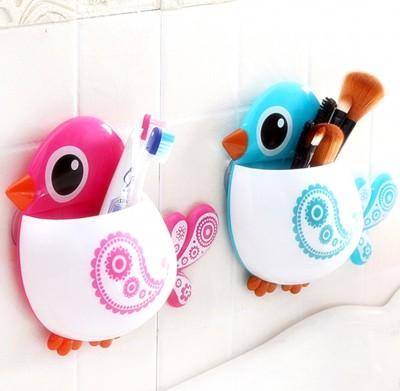 Diğer - Kuş Tasarımlı Vantuzlu Diş Fırçası Kutusu