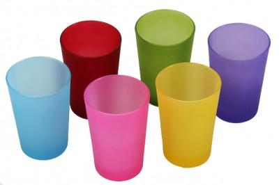 Lav - Lav Lara 6lı Opak Renkli Su Bardağı