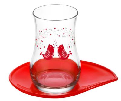 Lav - Lav Serenat Çay Bardağı ve Tabağı Set 12 Parça