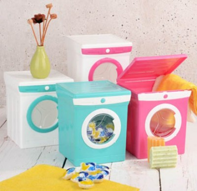 Diğer - Mini Çamaşır Makinesi Görünümlü Deterjan Kutusu