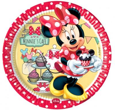 Diğer - Minnie Mouse 8li Kullan At Karton Parti Tabağı