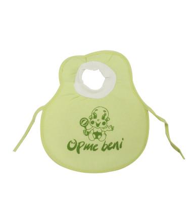 Diğer - Öpme Beni Yazılı Kafadan Geçmeli Bebek Mama Önlüğü Yeşil