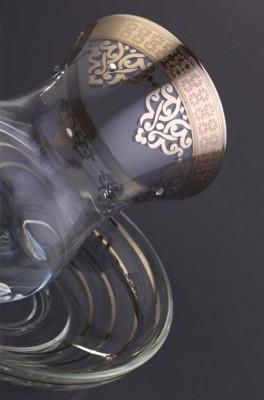 Diğer - Ottoman Gümüş Yaldızlı Çay Takımı 6 Kişilik