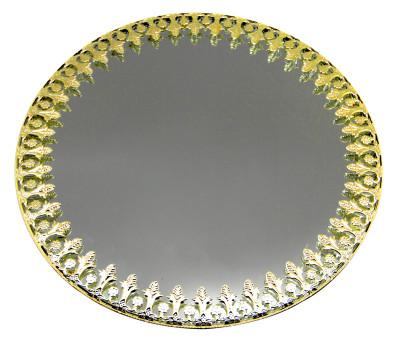 Diğer - Oval Aynalı Supla ve Yüzük Tepsisi Gold