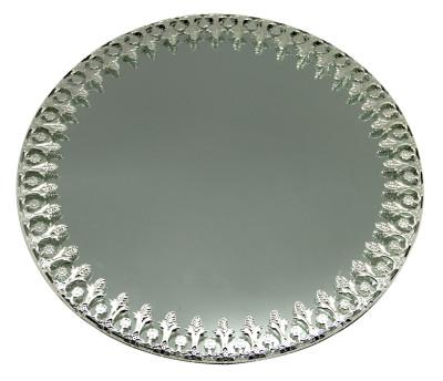 Diğer - Oval Aynalı Supla ve Yüzük Tepsisi Gümüş