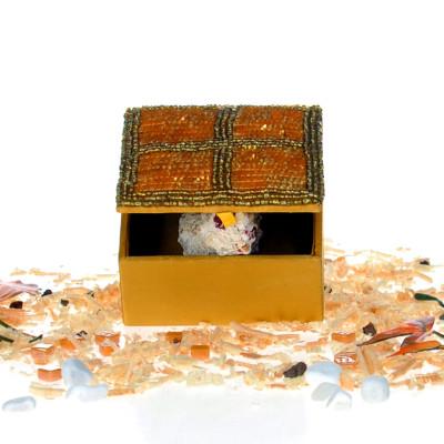 Diğer - Özel Tasarım Mücevher ve Hediye Kutusu 10cm Sarı