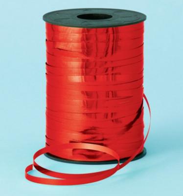 Diğer - Parlak Metalik Şerit Rafya 8mmx200mt Kırmızı