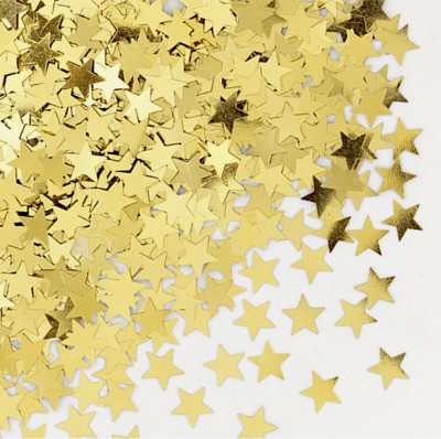 Diğer - Parlak Yıldız Masa Üstü Serpme Konfeti Gold