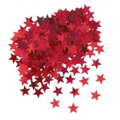 Diğer - Parlak Yıldız Masa Üstü Serpme Konfeti Kırmızı