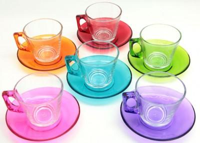 Paşabahçe - Paşabahçe 12 Parça 6 Renk Vela Çay Takımı