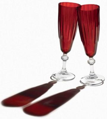 Paşabahçe - Paşabahçe Workshop Joy 6lı Diamond Kırmızı Şampanya Kadehi
