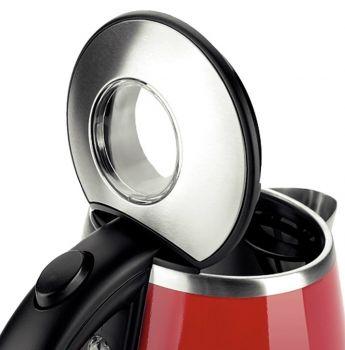 Profilo Paslanmaz Çelik Gövde Su Isıtıcı Kırmızı