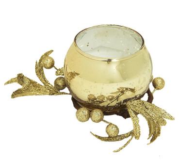 Diğer - Renkli ve Kokulu Dekoratif Bardak Mum Gold