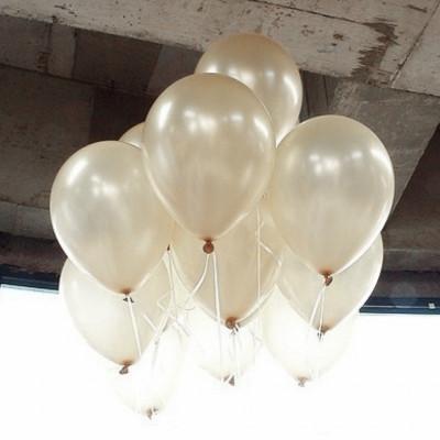 Diğer - Sedef Renkli Metalik Süsleme ve Parti Balonu 20li