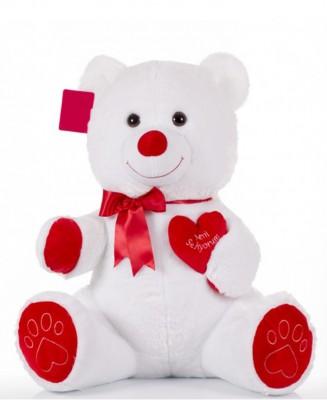 Selay - Seni Seviyorum Yazan Kalpli Peluş Ayıcık 65cm