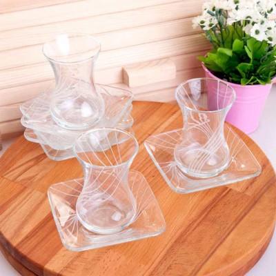 Joy Glass - Sıla İnce Belli Çay Bardağı Seti 12 Parça