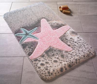 Confetti - Starfish Deniz Yıldızı Oymalı Banyo Halısı Pembe 80x140cm