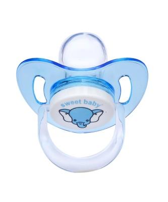 Sweet Baby - Sweet Baby Silikon Damaklı Emzik 6-18 Ay Mavi
