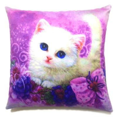 Diğer - Sweet Cat Dekoratif Kırlent Kılıfı 43cm