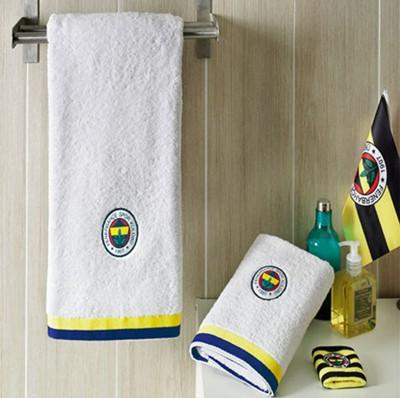 Taç - Taç Lisanslı Fenerbahçe Yüz Havlusu 50x90 Beyaz