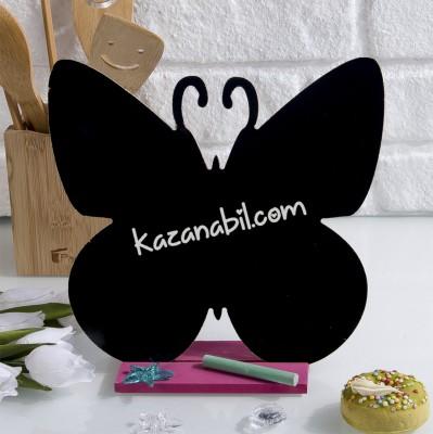 Diğer - Tebeşirle Yazılabilir Kelebek Tasarımlı Yazı Tahtası