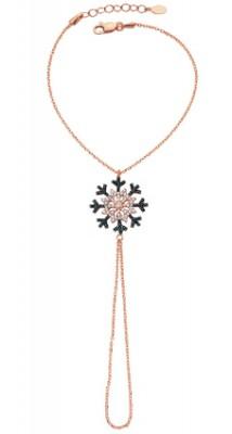 Tekbir Silver - Tekbir Silver Kar Tanesi Rose Kaplama Gümüş Şahmeran Bileklik