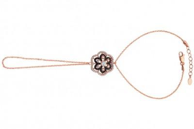 Tekbir Silver - Tekbir Silver Papatya Rose Kaplama Gümüş Şahmeran Bileklik