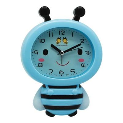 Time Gold - Time Gold Arı Tasarımlı Çalar Masa Saati Mavi 18x13cm