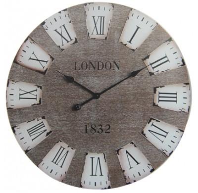 Time Gold - Time Gold London Yazılı Romen Rakamlı Yuvarlak Mdf Duvar Saati