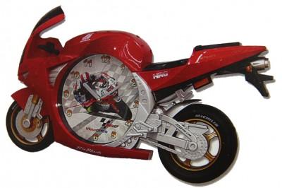 Time Gold - Time Gold Motorsiklet Şeklinde Çocuk Odası Dekoratif Duvar ve Masa Saati